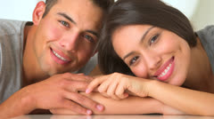 Cute Mexican couple smiling - stock footage