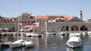 Stock Video Footage of Croatia, Dubrovnik, Marina Overview