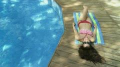 Sunbather Stock Footage