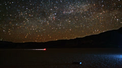 Milky Way Rises in Night Sky Timelapse over Racetrack Playa - stock footage