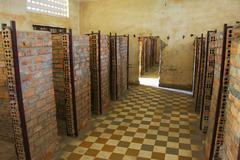 tuol sleng genocide museum, phnom penh, cambodia - stock photo