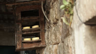 Stock Video Footage of Croatia, Gromaca Village, Wooden Shelf Holds Cheese