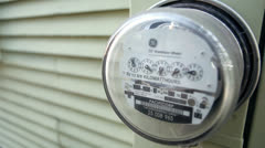 Electricity Meter on House Stock Footage