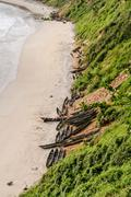 The beach of fort dauphin Stock Photos