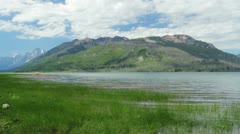 Tetons and Jackson Lake Stock Footage
