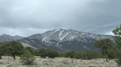 Storm Clouds over Blanca Peak Stock Footage