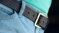 Tighten Your Belt Stock Footage