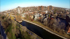 Aerial of Urban City - Residential Stock Footage