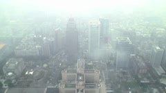 Taipei 101 view - stock footage