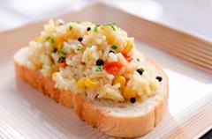 rissoto sandwich - stock photo