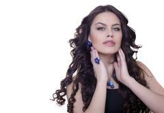 Stock Photo of portrait of attractive brunette