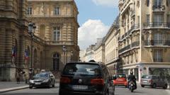Paris street. Stock Footage