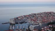 Stock Video Footage of Croatia, Dubrovnik, Town and Adriatic Sea Overview MS