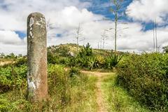 standing stone - stock photo