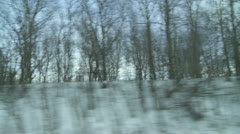 Winter Driving 3 - stock footage