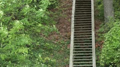 Woodland Hill Steps Stock Footage