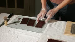 Wrapping Chocolate Stock Footage