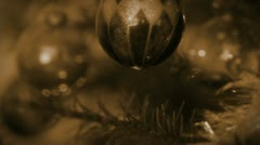 Retro Christmas Silver Ball Stock Footage