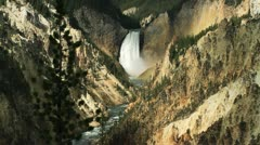Yellowstone Falls - locked off Stock Footage
