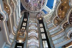 Cruise ship atrium Stock Photos