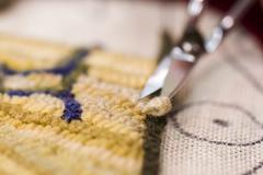 Rug hooking Stock Photos