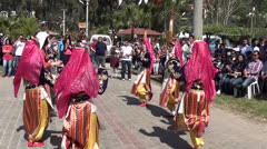 Folk dance women performance Stock Footage
