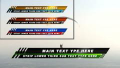 Strip Lower Third - stock after effects