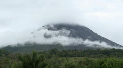 Costa Rica, Arenal Volcano, Misty Mountain 1 Stock Footage