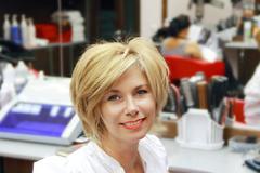 Stock Photo of portrait of pretty blond woman