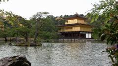 Kinkaku-ji temple, Kyoto, Japan (timelapse) Stock Footage