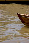 prow boat water - stock photo