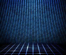 Blue matrix room Stock Illustration