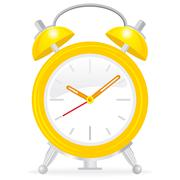 yellow alarm clock - stock photo