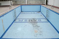 Abandoned swimming pool Stock Photos