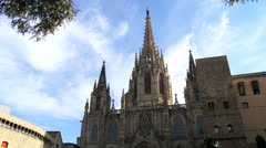 Barcelona 69 Cathedral Stock Footage
