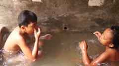 Water tub bathe Stock Footage