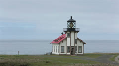 Point Cabrillo Light House Station California Historic Park HD 5934 Stock Footage