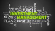 Stock Video Footage of Investment Management Word Cloud Animation