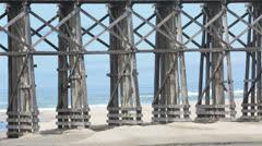 Trestle bridge MacKerricher State Park Ft Bragg beach California HD 5959 Stock Footage