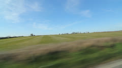 Drive in the country. Somerset fields. - stock footage