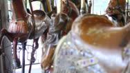 Merry Go Round Children's Carousel Horse Vintage Memory Nostalgic Carnival Stock Footage