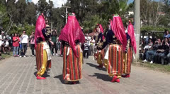 Folk dance women performance 2 Stock Footage