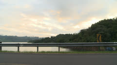 Costa Rica, Arenal Volcano, Looking Across the Road, Pan Stock Footage