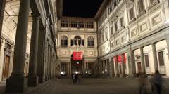 Uffizi, Florence - stock footage