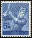 Stock Photo of german vintage stamp, macro