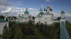 Spaso-Yakovlevsky monastery. Russia Stock Footage