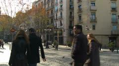 Barcelona 72 La ribera Stock Footage