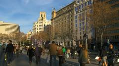 Barcelona 79 P DeCatalunia Stock Footage