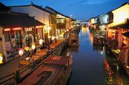 Suzhou by night Stock Photos