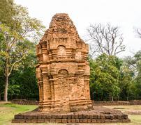 old inclined pagoda - stock photo